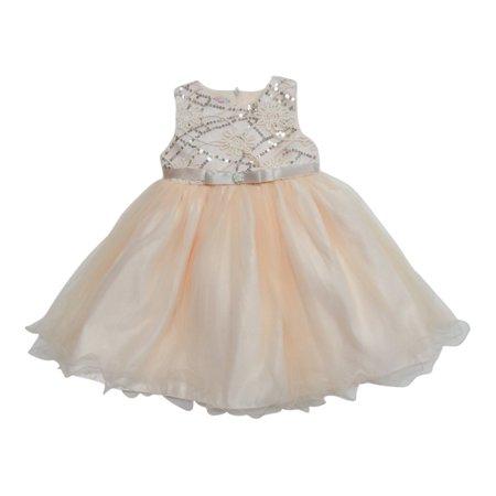 Little Girls Champagne Shimmery Sequin Ribbon Belt Flower Girl (Best Champagne Veuve Clicquot)