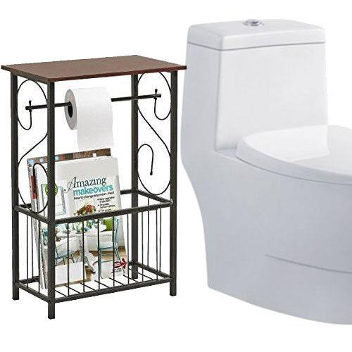 Ktaxon Bathroom Table Top Toilet Paper Tissue Holder Organizer Magazine Storage Racks