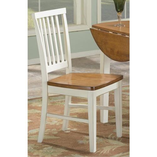 Arlington Slat Back and Wood Seat Side Chair-set of 2 Arlington Slat Back Black/Java Side Chair-set of 2