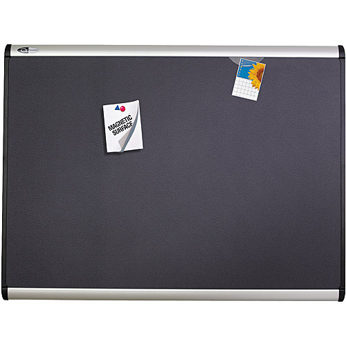 "Quartet Prestige Plus Magnetic Fabric Bulletin Board, 72"" x 48"", Aluminum Frame"