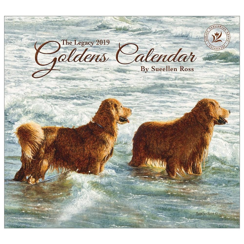 2019 Goldens Wall Calendar, Golden Retriever by Legacy Publishing Group