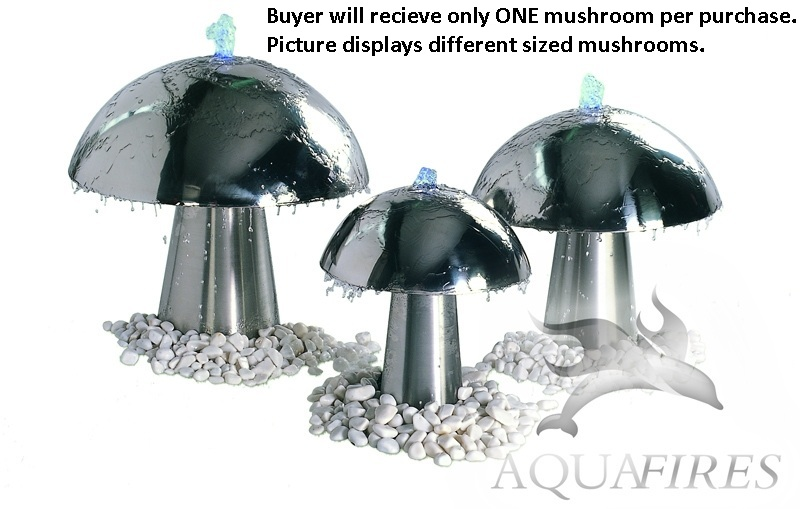 "Aquafires AQM-S 14"" Diameter Aqua Mushroom Fountain w  Pump & 30' Power Cord by Aquafires"