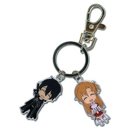 Great Eastern Entertainment Sword Art Online Chibi SD Kirito & Asuna Metal Key