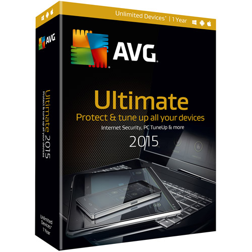 AVG ULTIMATE 2015, 1 YEAR (Unlimited Users) DVD-ROM Windows 7 / Windows XP / Mac OS X