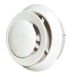 8in Round Duct (Imperial DR-08 Premium Round Air Diffuser with Collar, 8 in W Duct Opening, Steel, White)