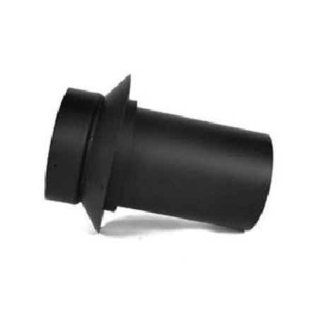 6'' Model DSP Double-Wall Black Stove Pipe Masonry Adapter - Model Dsp Double Wall Stove