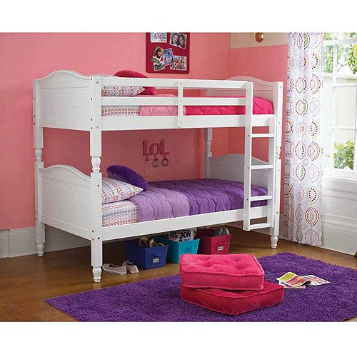 Kylie Twin Over Twin Bunk Bed, White