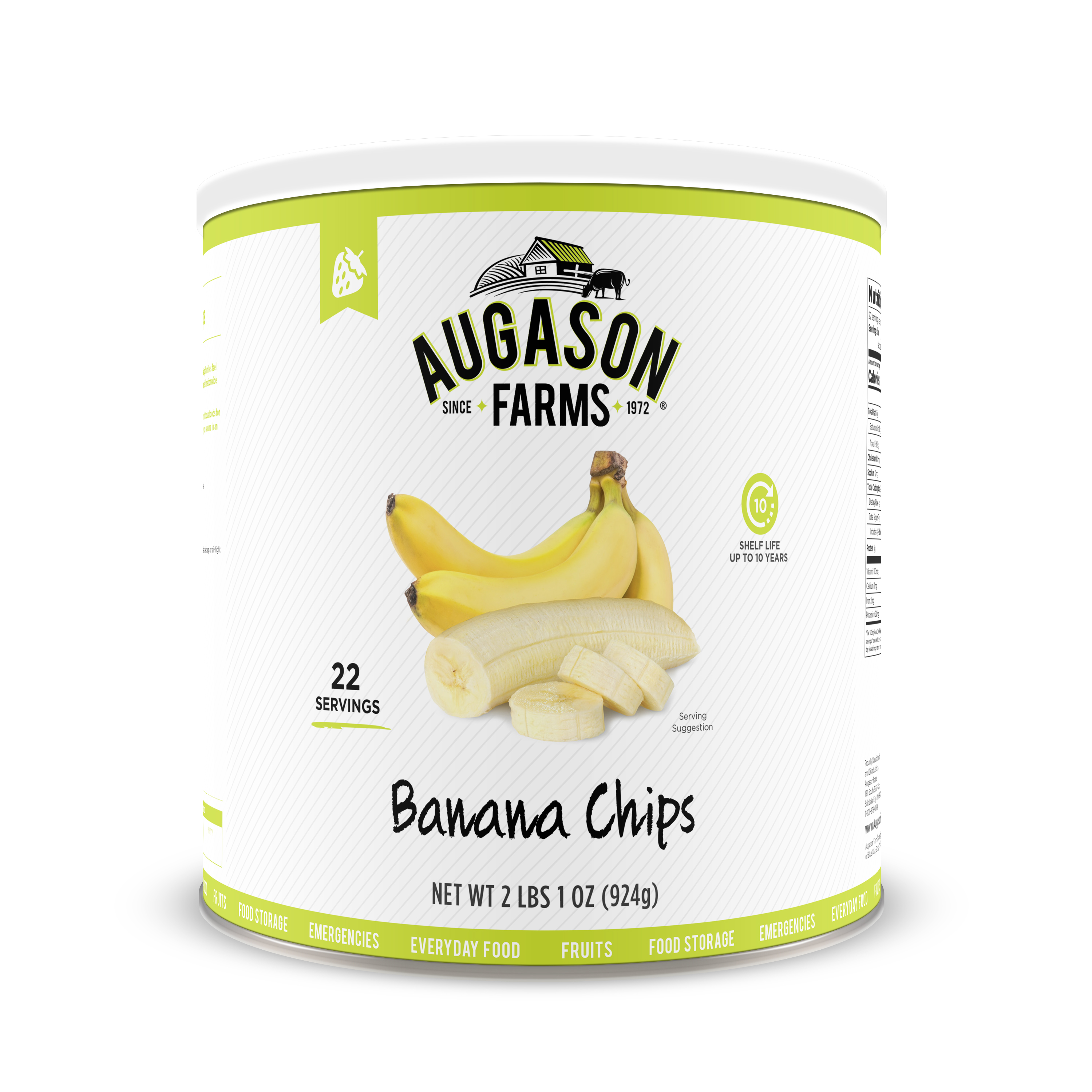 Augason Farms Banana Chips 2 lbs 1 oz No. 10 Can by Blue Chip Group