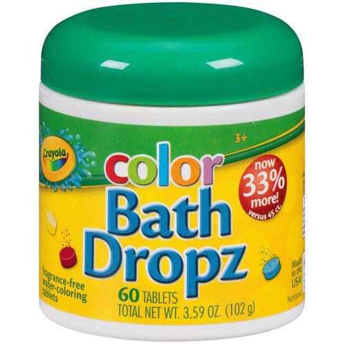 Crayola Color Bath Dropz, 60 count, 3.59 oz