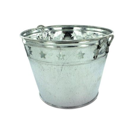 Kole Imports OA235-12 Tin Bucket with Stars - Pack of 12](Tin Buckets)