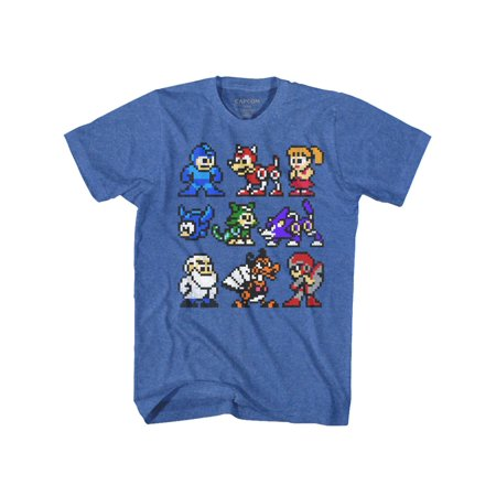 Mega Man Capcom Video Game The Cast Whole Gang Crew Adult T-Shirt - Halloween 1 Full Cast And Crew