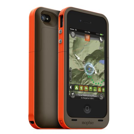 factory authentic 347e1 111f8 Refurbished Mophie Juice Pack Plus Outdoor Edition External Battery Case  and Outdoor Wayfinding App for iPhone4 Orange