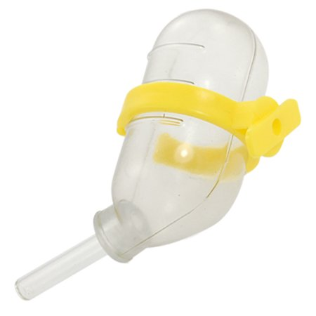 Hanging Water Fedding Bottle Yellow Clear for Dog Hamster - image 1 de 1