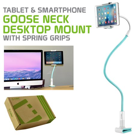 Telephone Table Stand - Tablet and Smartphone Clip mount, Flexible Gooseneck Clip on Desk or Table Cell Phone Holder stand- by Cellet Universal for iPad, iPhone, Tablets and Smartphones