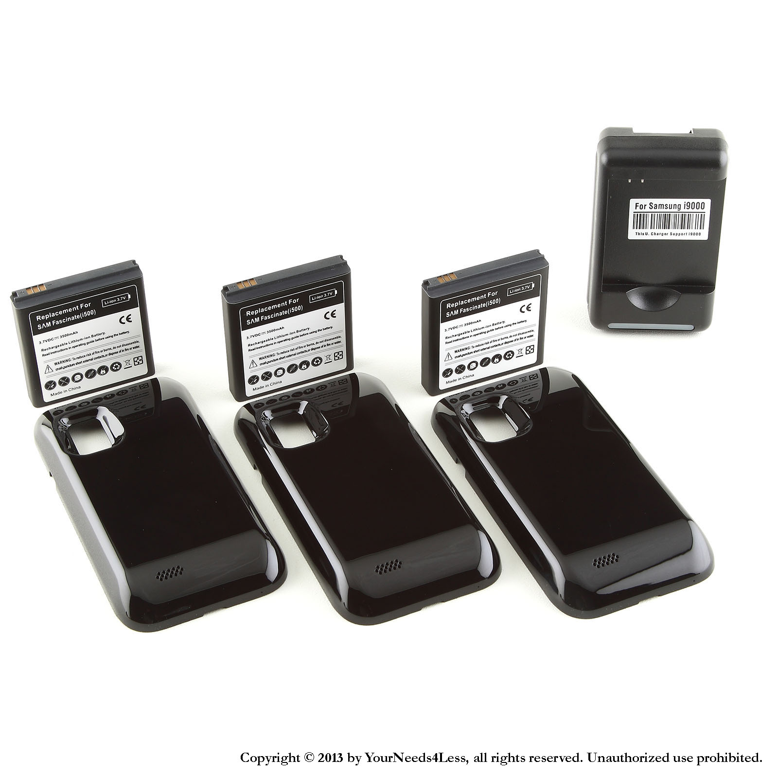 YN4L® 3 X 3500mAh Extended Battery for Samsung Galaxy S i...