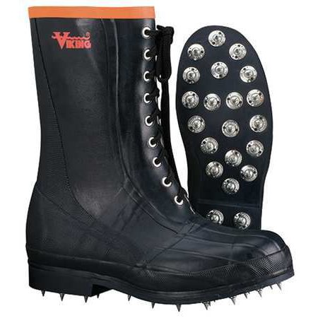 - Viking Men's Spiked Forester Chainsaw Protection Boot