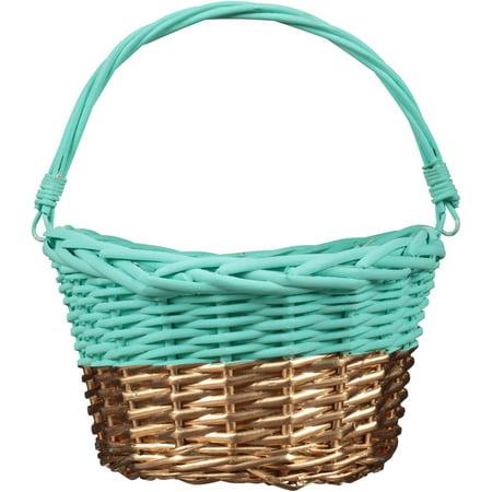 Teal gold willow easter basket walmart teal gold willow easter basket negle Image collections