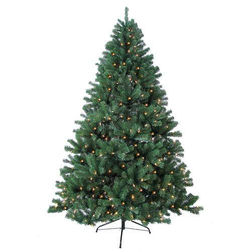 Jolly Workshop 8' Green Woodruff Spruce Artificial Christmas Tree with 750 Warm Lights and Metal Stand