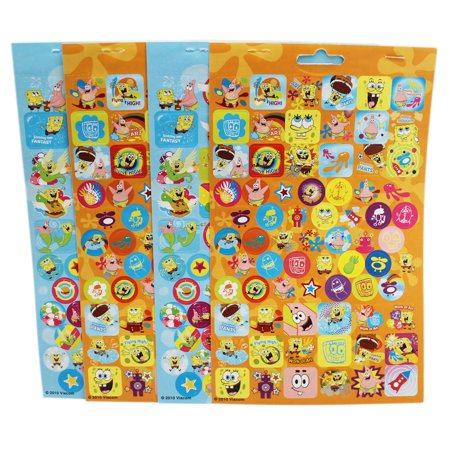 - Spongebob Squarepants Assorted Sticker Sheet Set (4 Sheets)