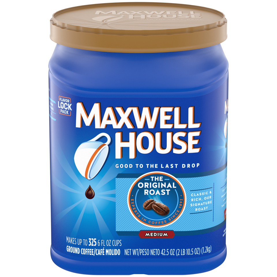 Click here to buy Maxwell House Original Roast Ground Coffee 42.5 oz. Canister by Kraft Foods.