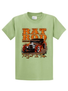 2fa1675ccbc34d Product Image Rat Rod T-Shirt Rat Rod With Flames Forged In Time