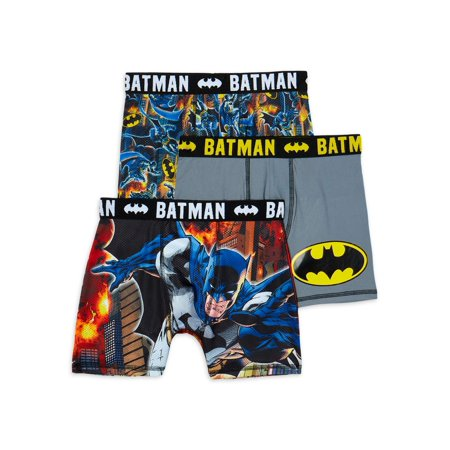 Batman Boys Boxer Briefs, 3 Pack