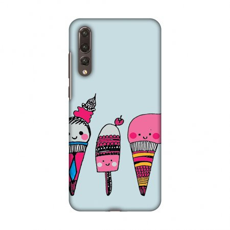 Pro Ice Pitchers Kit - Huawei P20 Pro Case - Ice Creams- Pale blue, Hard Plastic Back Cover, Slim Profile Cute Printed Designer Snap on Case with Screen Cleaning Kit