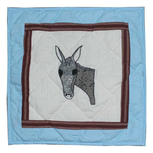 Patch Magic Mule Trail Cotton Throw Pillow