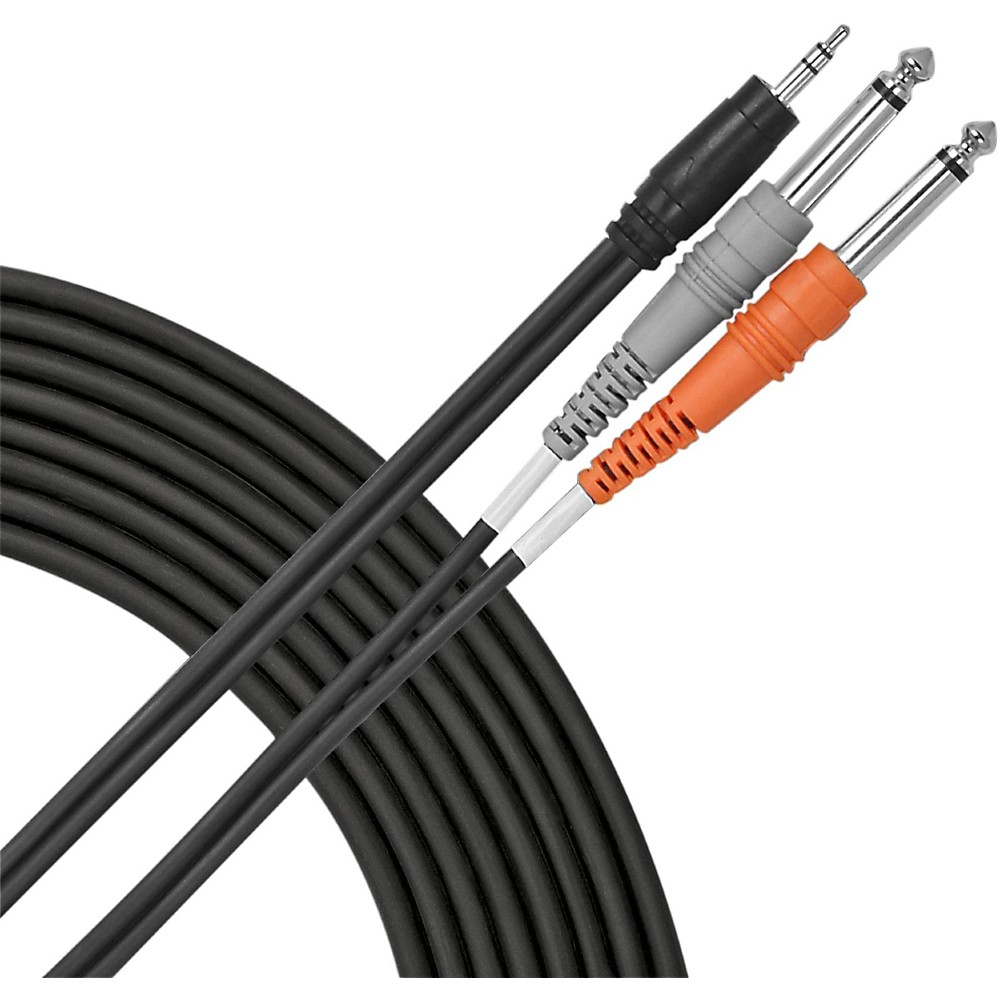 "Livewire 1/8"" (TRS) - Dual 1/4"" Y Cable  10 ft."