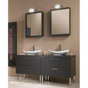 Iotti by Nameeks Aurora 61'' Double Bathroom Vanity Set with Mirror