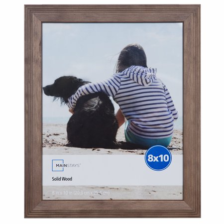 - Mainstays 8x10 Oak Finish Frame