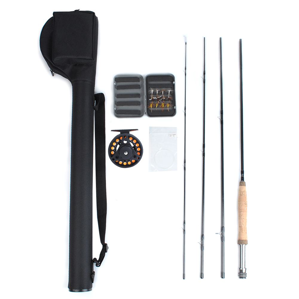 Click here to buy Dr.Fish Prespooled Portable Fly Fishing Rod Reel Combos 9ft 5 6 Compelet Starter Kit Package Outfit Backing Flies Fly... by Dr.Fish.