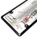 Cruiser Frames License Plate Frame - Plastic Black With Clear Shield