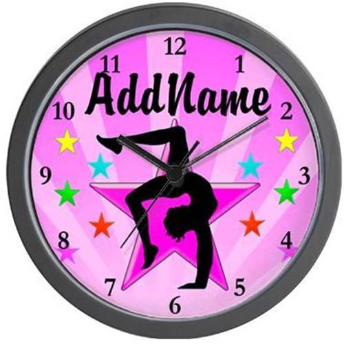 Cafepress Personalized Gymnast Winner Wall Clock