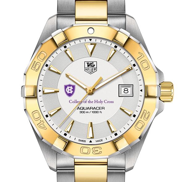 Holy Cross Men's TAG Heuer Two-Tone Aquaracer by Tag Heuer