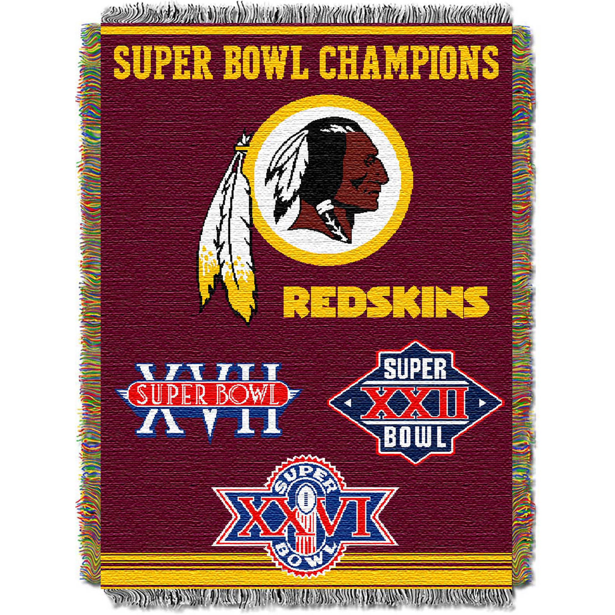 Washington Redskins The Northwest Company 48'' x 60'' Commemorative Woven Tapestry Throw - No Size
