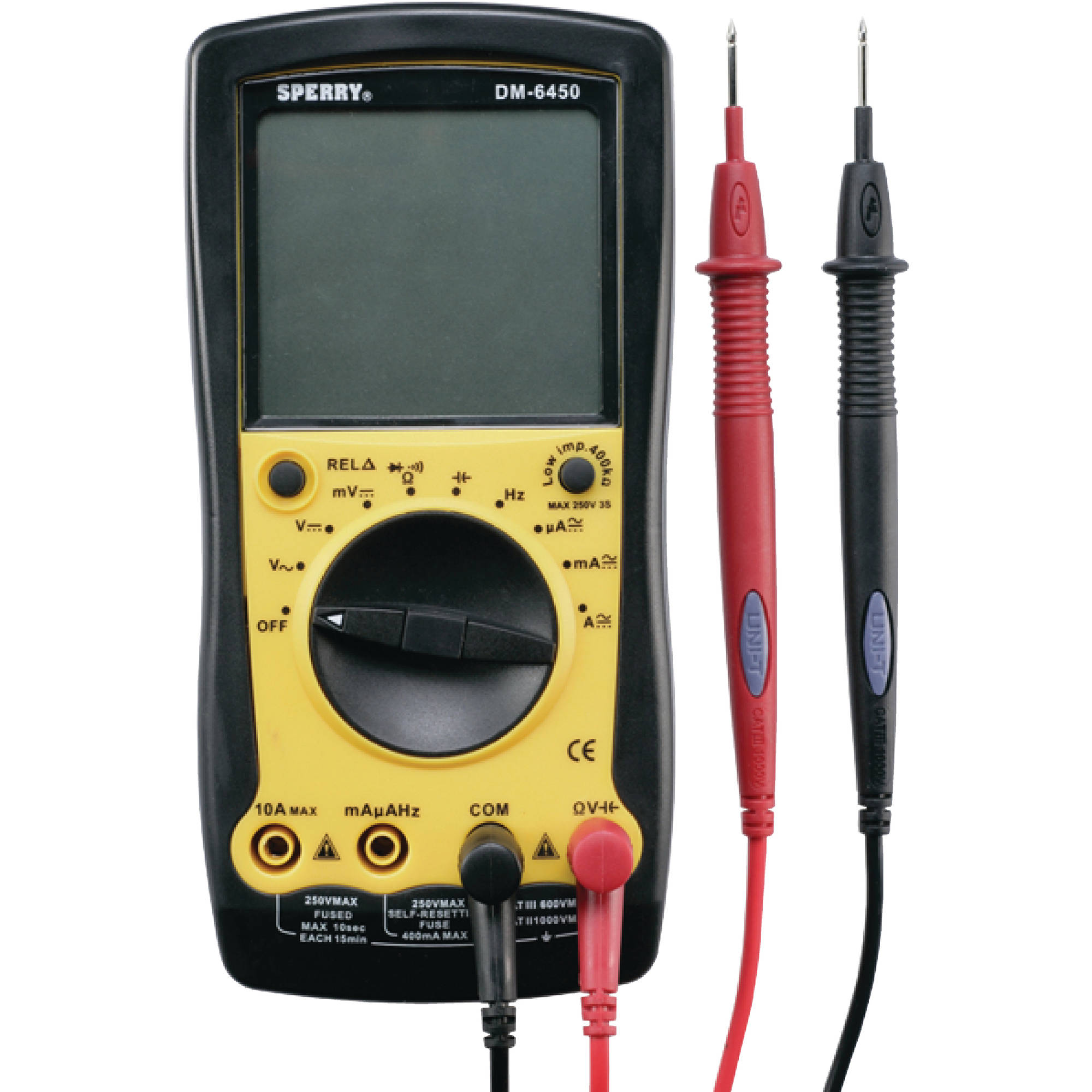 Marinco DM6450 9 Function Digitial Multimeter (Requires one 9V Battery Not Included)