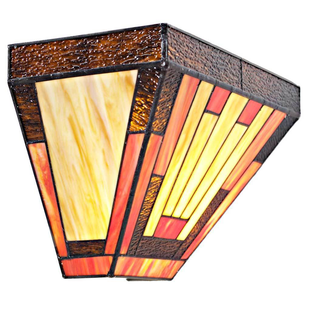 River of Goods Stained Glass Sunset 15050S LED Wireless Wall Sconce ...
