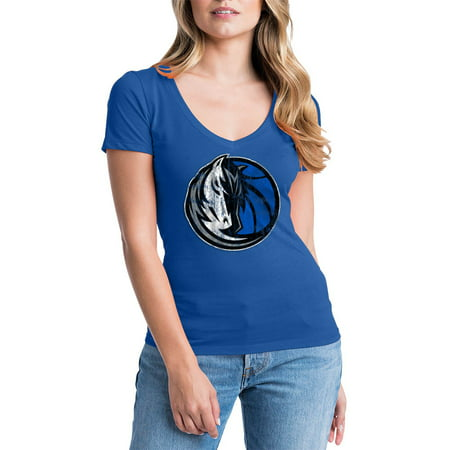 Dallas Mavericks Womens NBA Short Sleeve Baby Jersey V-neck