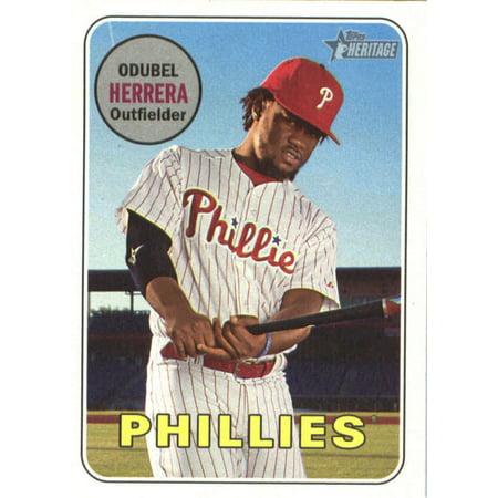 2018 Topps Heritage #306 Odubel Herrera Philadelphia Phillies Baseball Card