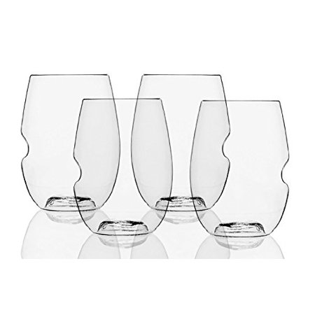 The govino Dishwasher Safe Wine Glasses Flexible Shatterproof Recyclable, 16-ounce, Bulk Case of 72