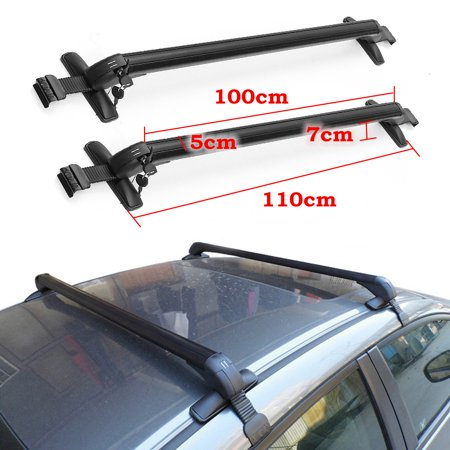Aluminum Car Top Luggage carroofbar Roof Rack Cross Bar Carrier Adjustable Window Frame