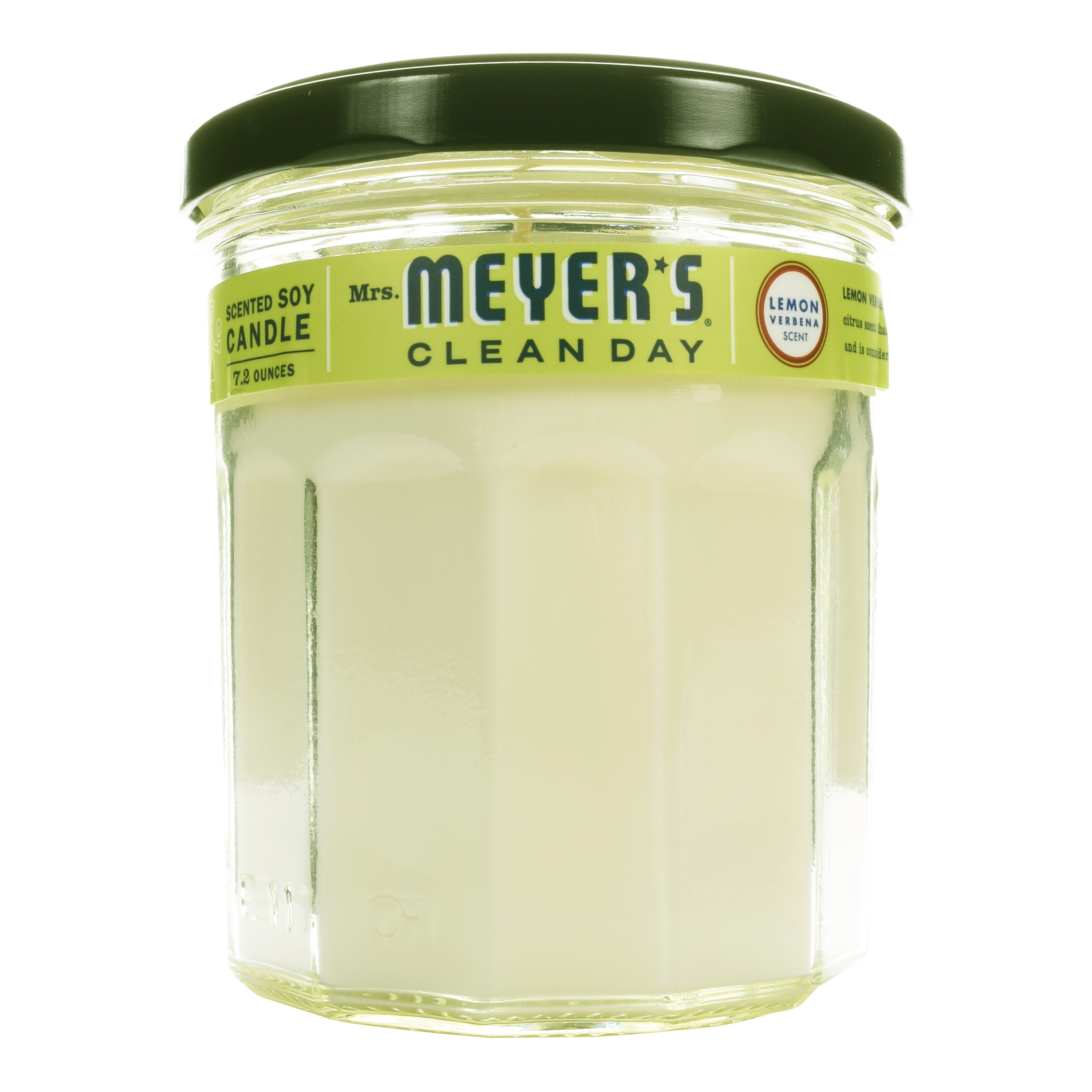 Mrs. Meyer's Clean Day Scented Soy Candle, Large Glass, Lemon Verbena, Candle, 7.2 ounce