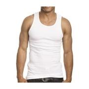 6 Pack Cotton Mens A-Shirt  Ribbed Tank Top Undershirt M L XL 2XL !