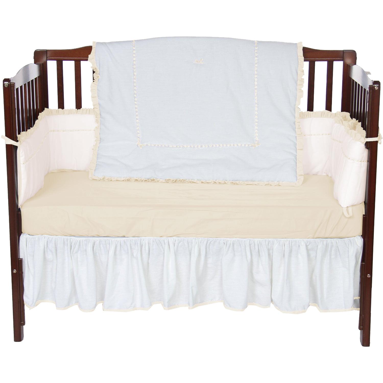 Baby Doll Bedding Unique 4 Piece Crib Bedding Set in Ecru by Baby Doll Bedding