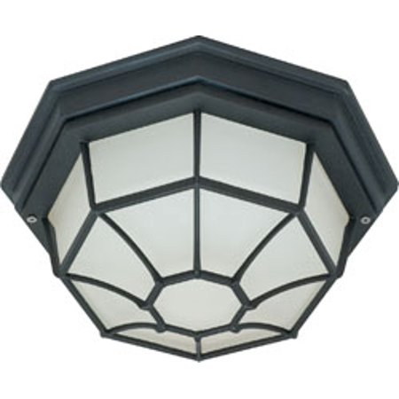 Replacement for 60/536 1 LIGHT 12 INCH CEILING SPIDER CAGE FIXTURE DIE CAST GLASS LENS TEXTURED BLACK BULK HEAD replacement light bulb lamp Diecast Glass Lens Light Fixture