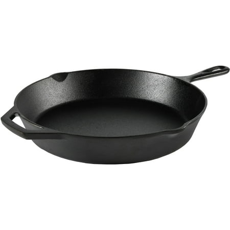 """Ozark Trail 12"""" Cast Iron Skillet With Handle and Lips"""
