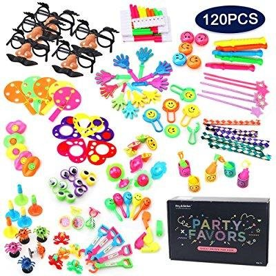 Amy & Benton 120PCS Carnival Prizes for Kids Birthday Party Favors Prizes Box Toy Assortment for - Halloween Craft Classroom Party