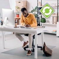 "Ecotex Recycled Rectangular Chair Mat For Hard Floors - 36"" x 48"""