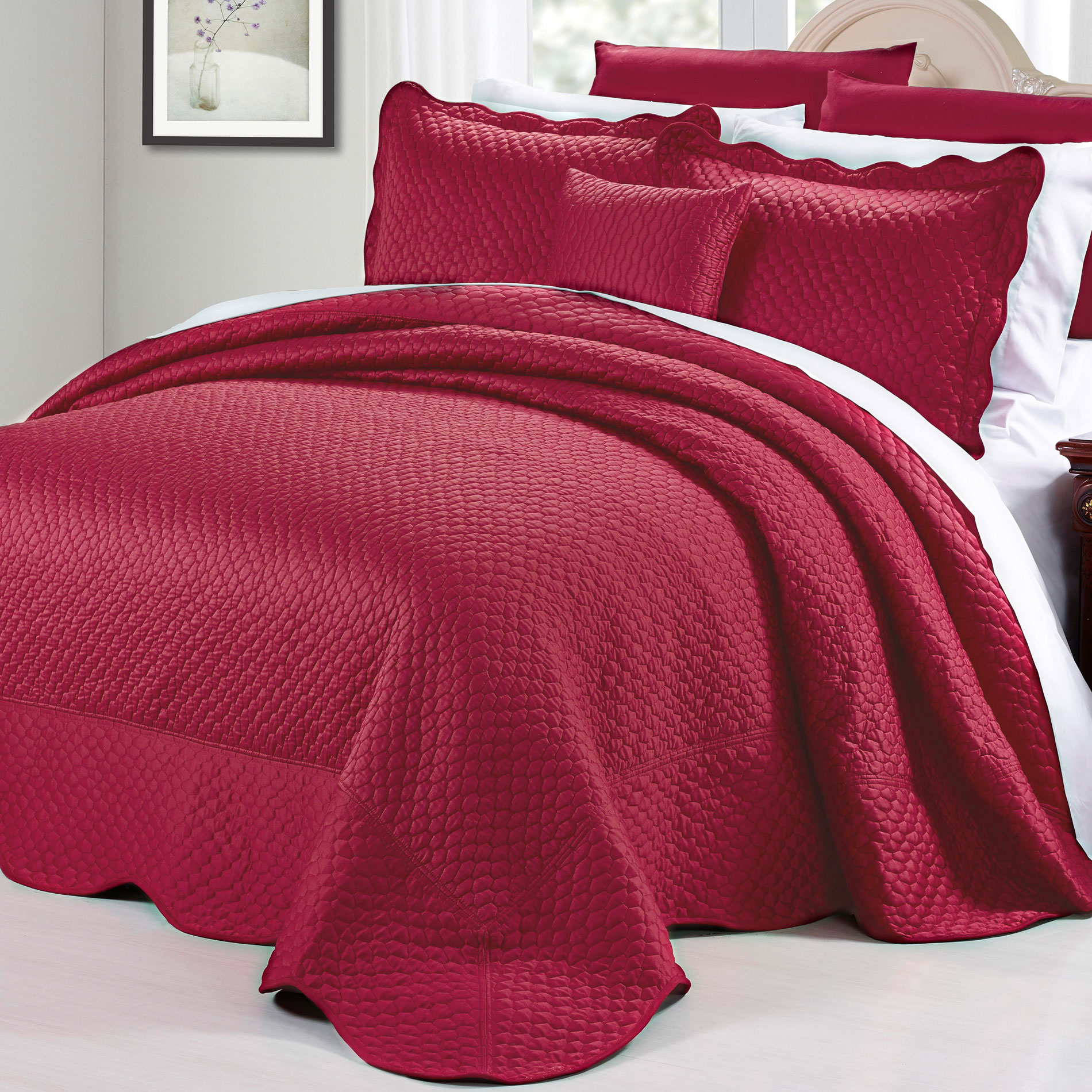Serenta Matte Satin 4 Piece Bed Spread Set